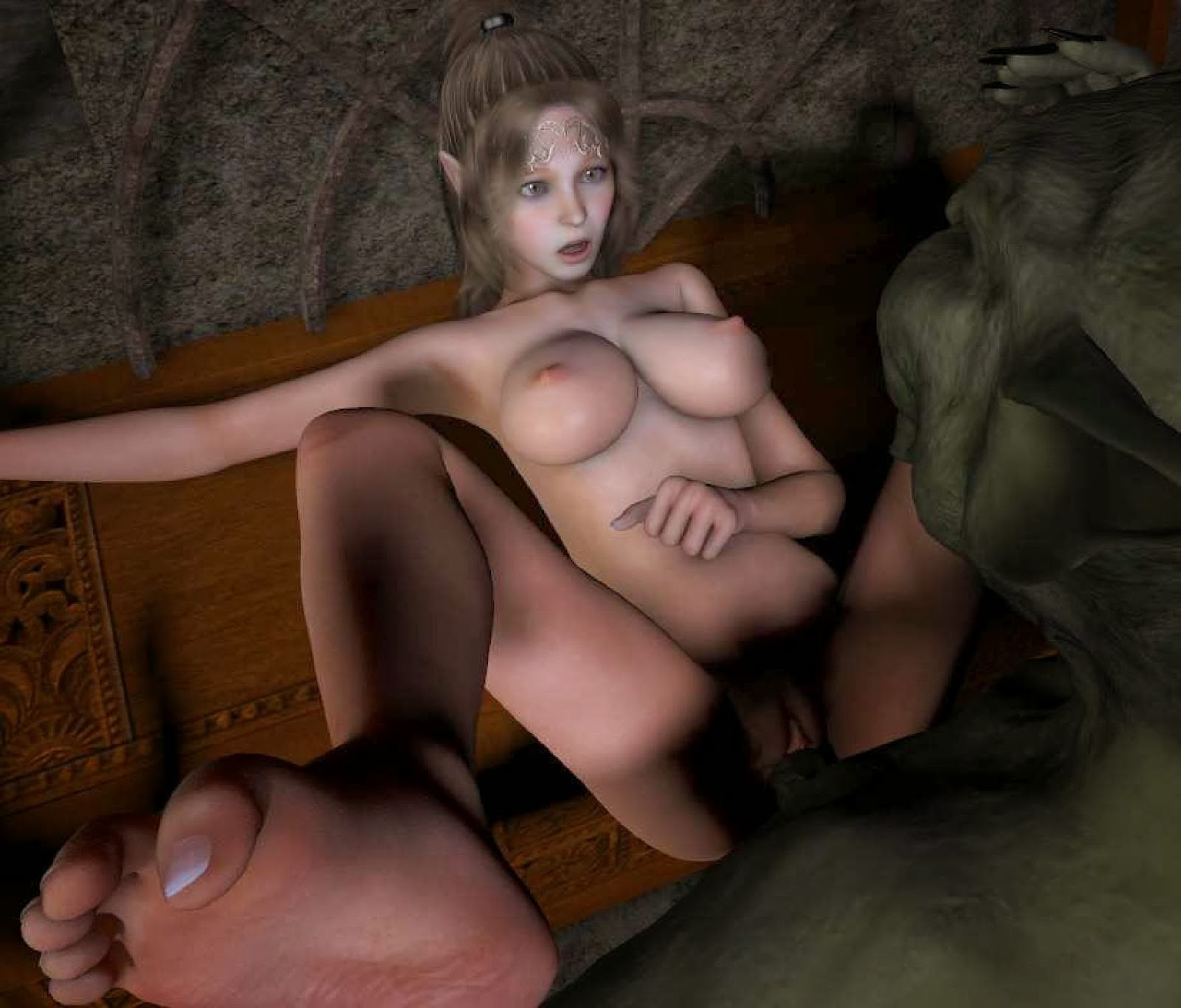 Elf girl forced sex exploited image