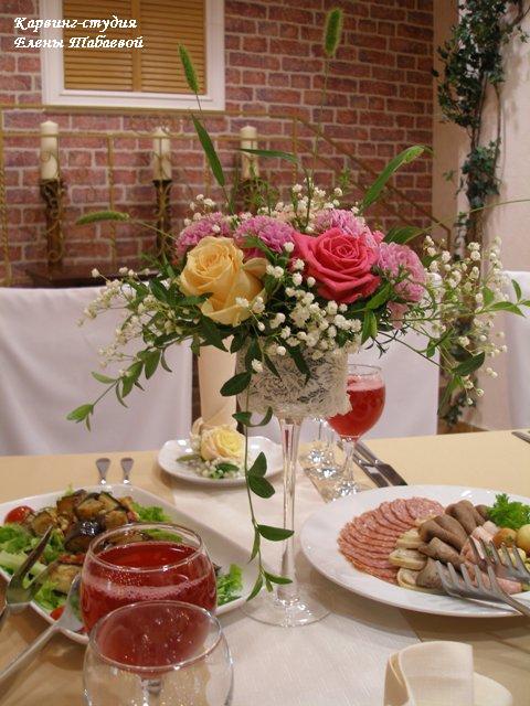 букет в вазе свадьба