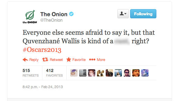 Onion Oscar Tweet