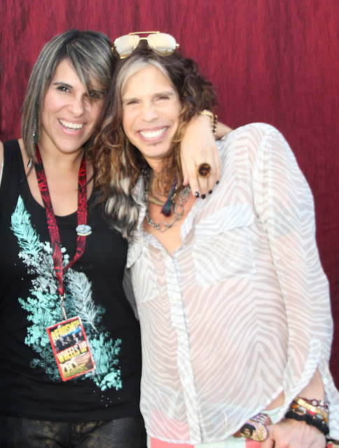 Peruvian blogger, Meeting Rock star, Aerosmith, Patty Arata Blog