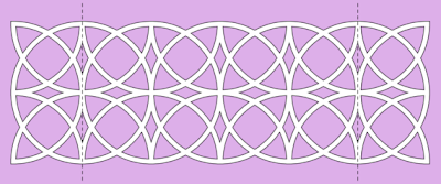 border circles free paper cutting pattern
