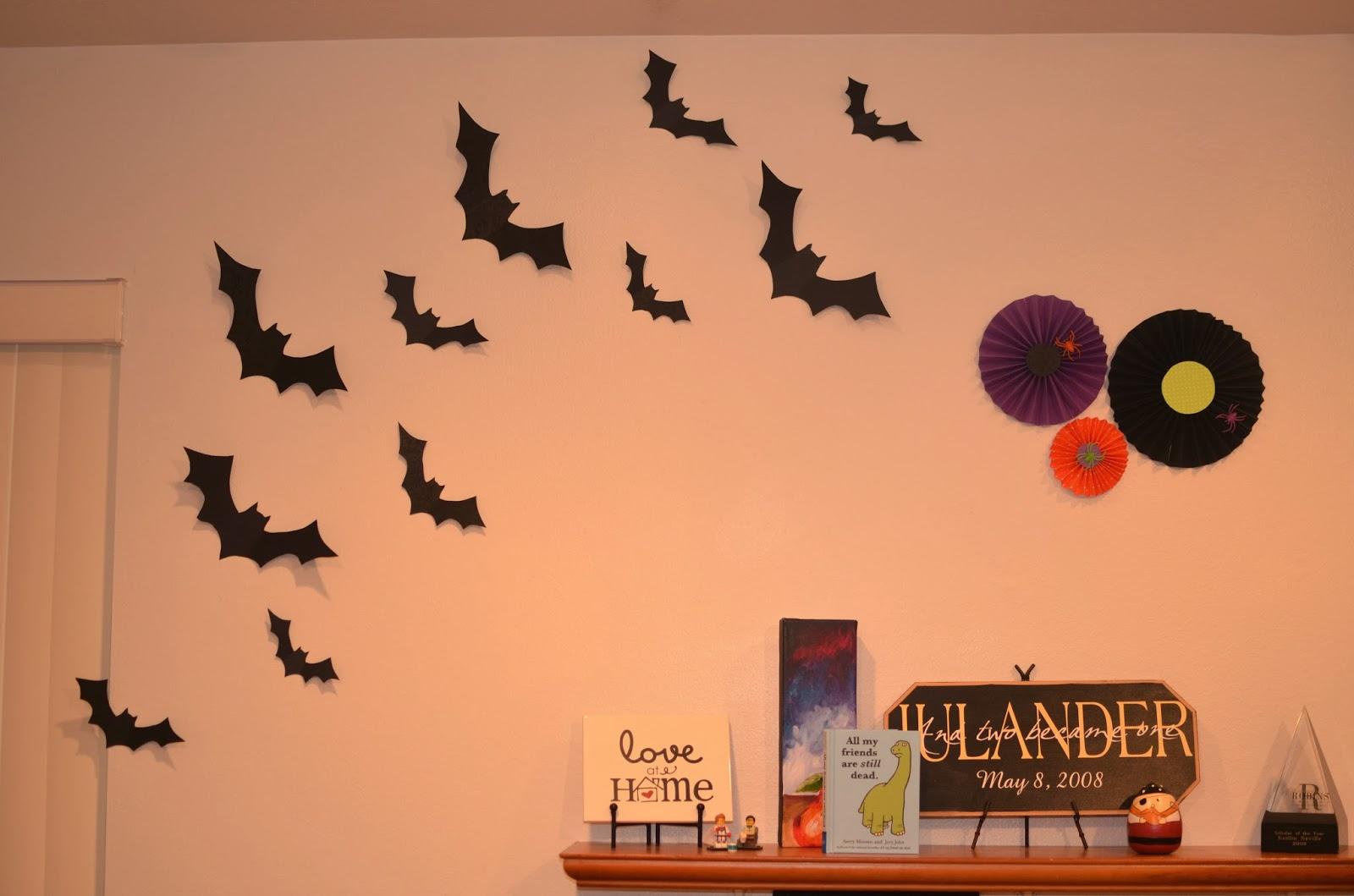 diy halloween paper wheels and bats