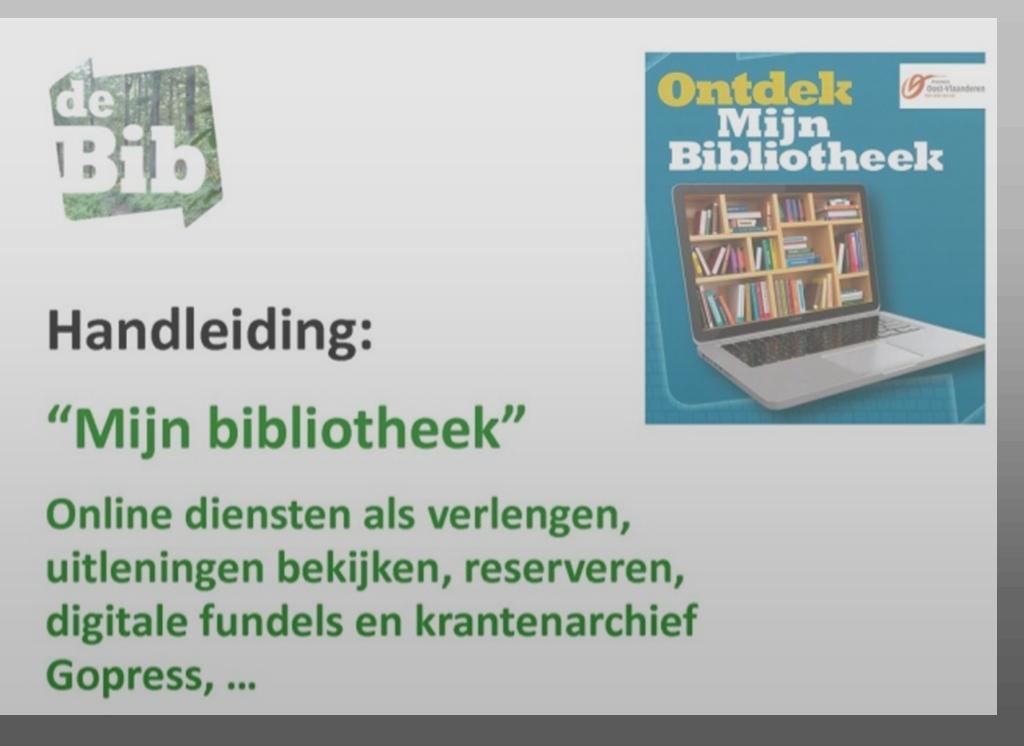 Handleiding 'MijnBibliotheek'