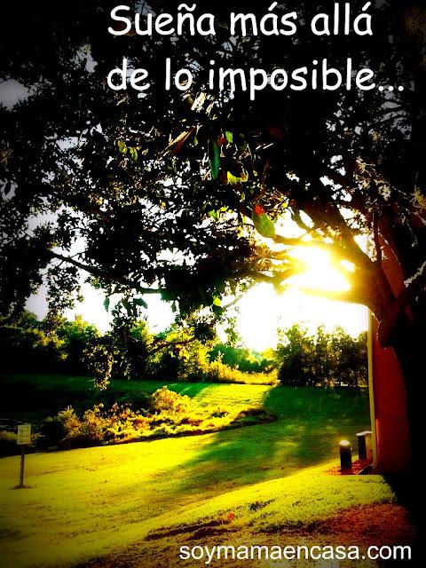 sueña mas alla de lo imposible