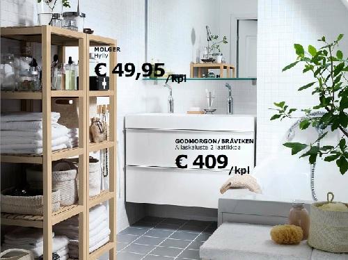 Kylpyhuone säilytys