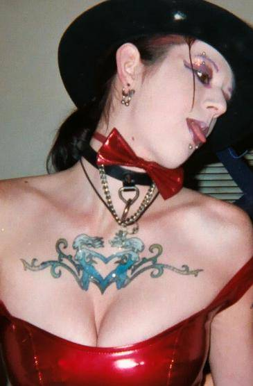 Best Woman Chest Tattoos