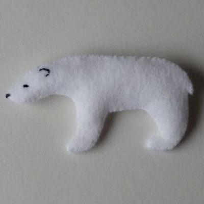 Flat polar bear