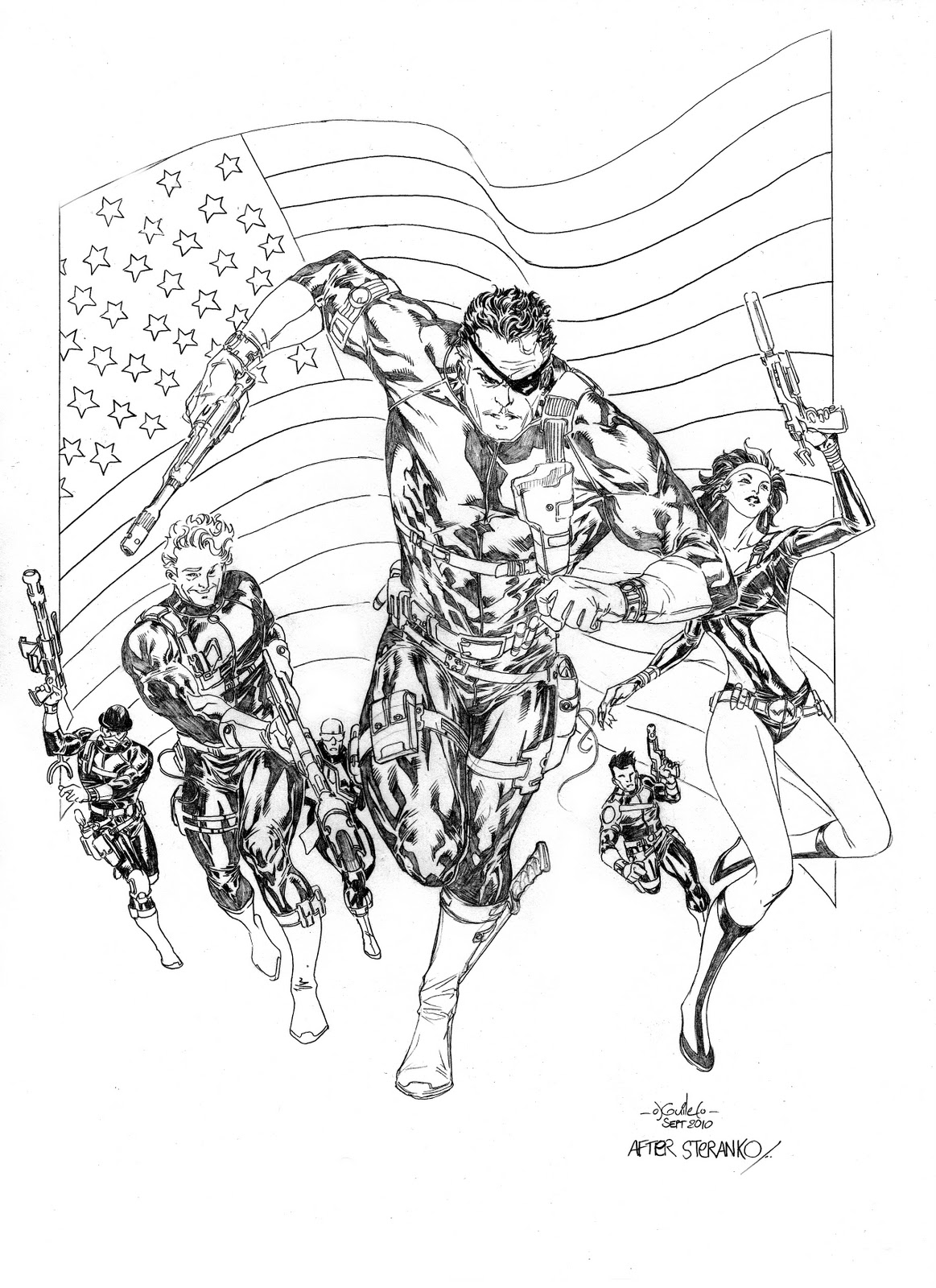 Free Nick Fury From Avengers Coloring Pages: Free Colouring Pages