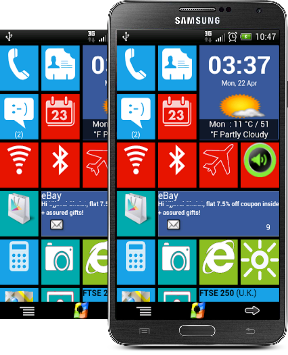 de proporcionar la experiencia de Windows 8 a tu dispositivo Android