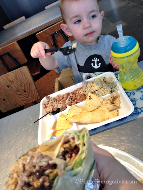 Chowing on Chipotle. Yum.