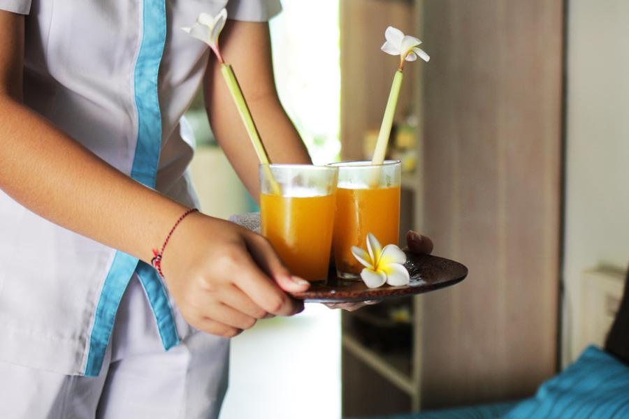 urlaub hotel welcome drink