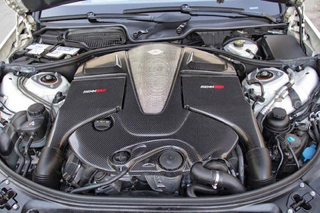 mercedes w221 s65 amg v12 renntech engine