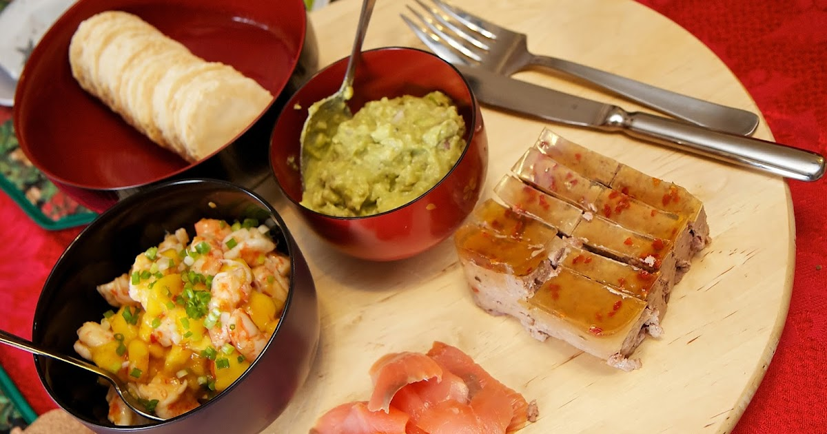 ... ,prawn salsa,brussels sprouts with bacon,thai style roast duck curry