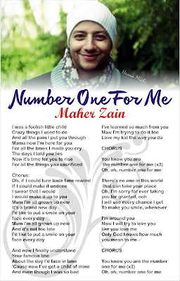 Lyric Number One For Me Maher Zain