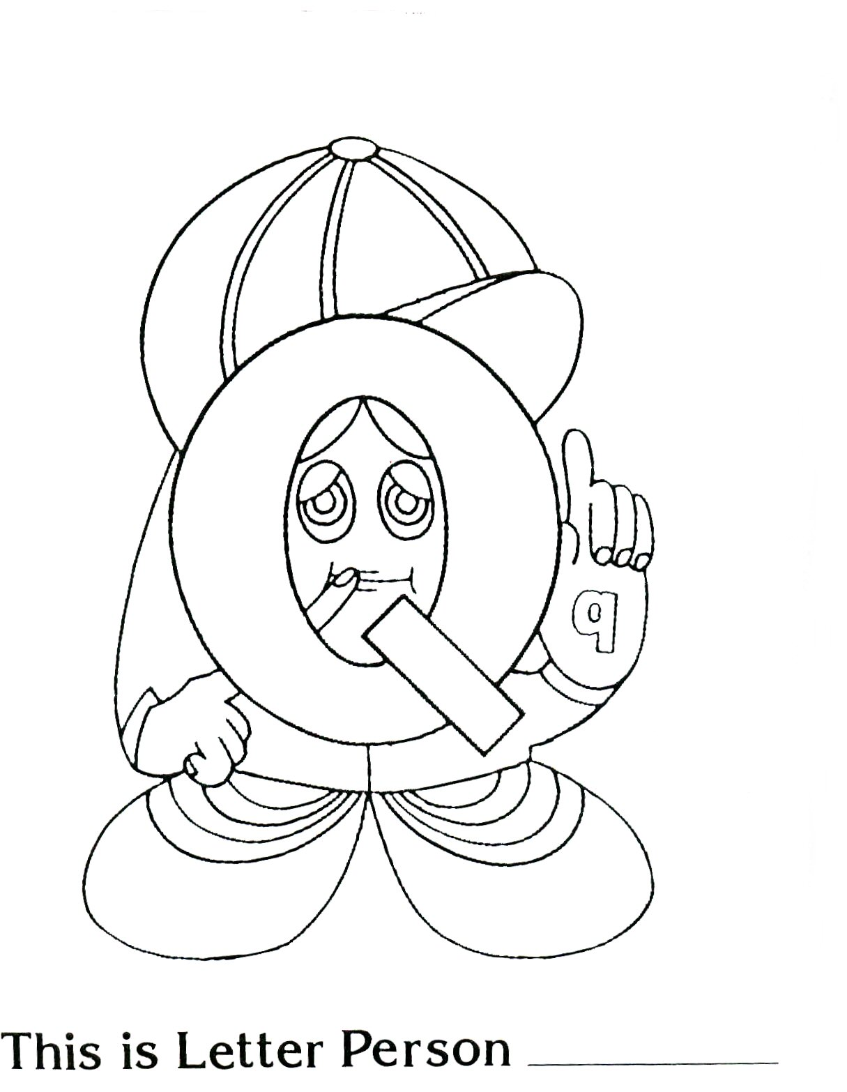 Beginnings preschool letter person q printable coloring page