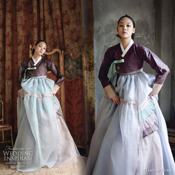 Modern hanboks for Hanbok wedding dress