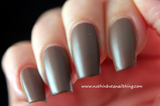 Barry M Matte Nail Paint Mocha