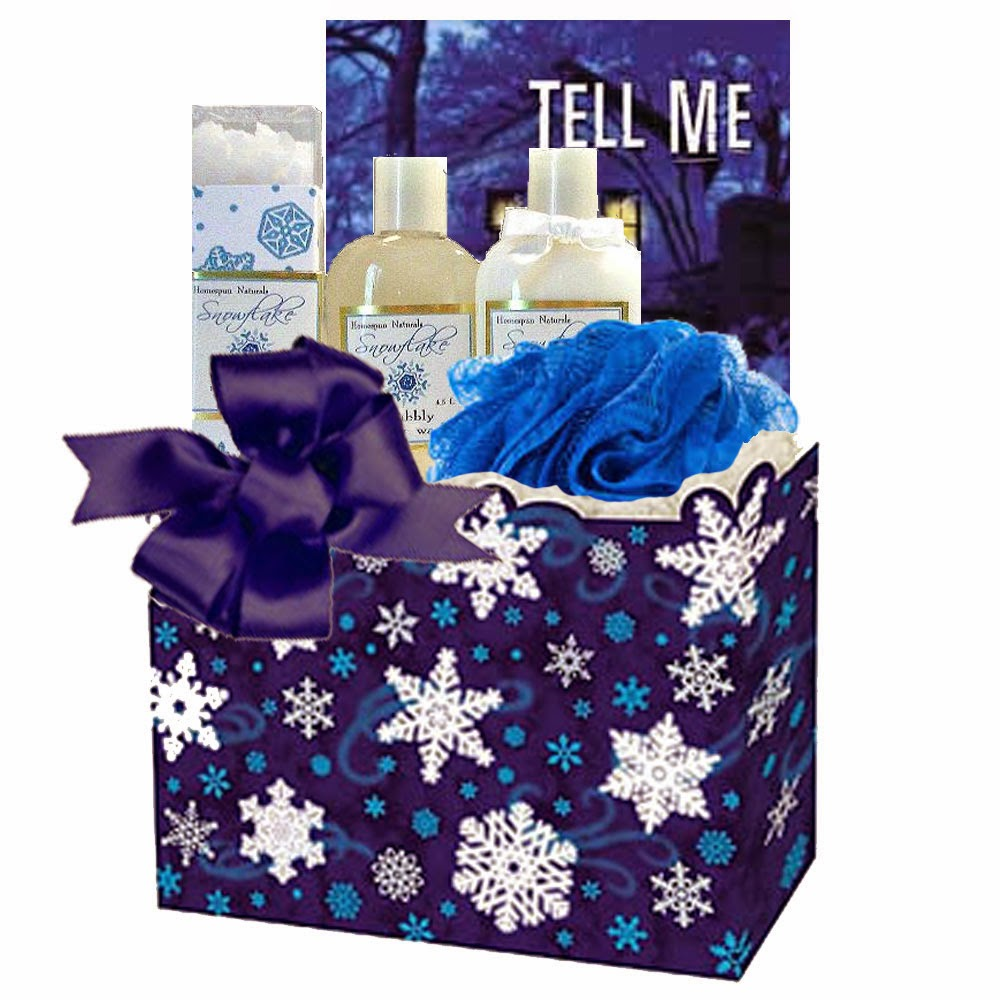 Holiday Bath and Book Gift Basket