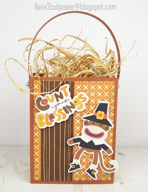 Sock Monkey, Pilgrim, Thanksgiving, Gift Bags, ilove2cutpaper, LD, Lettering Delights, Pazzles, Pazzles Inspiration, Pazzles Inspiration Vue, Inspiration Vue, Print and Cut, svg, cutting files, templates,