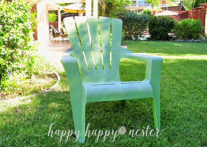 Painting Plastic Outdoor Chairs
