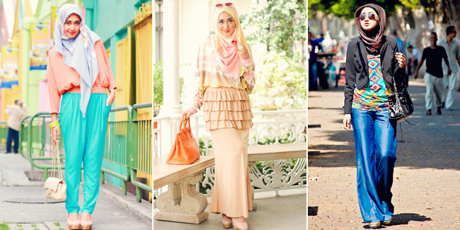 Casual Hijab Style - Dian Pelangi's Collection