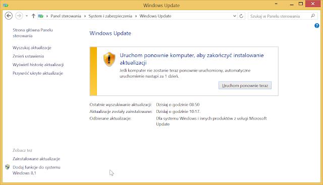 Windows Update - poprawne zainstalowanie aktualizacji