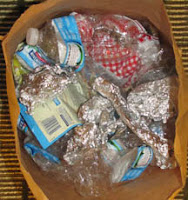Recyclable food packaging collected during our visit to Fort Wayne, Indiana