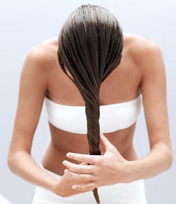 mascarilla aceite de coco cabello seco