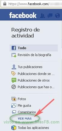 Actividad, Facebook, 2013