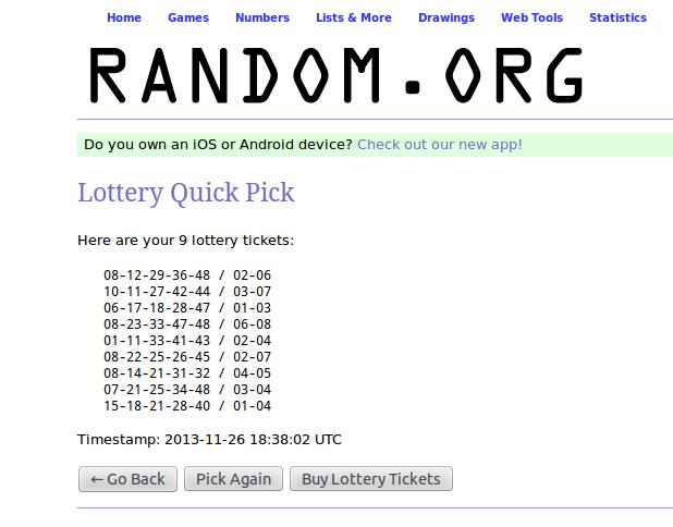 lotto generator zocker