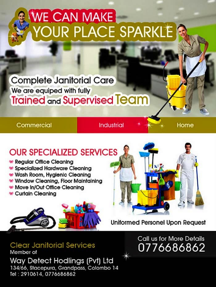 Cleaning Services | Clear Janitorial Services ( We make your place Sparkle )