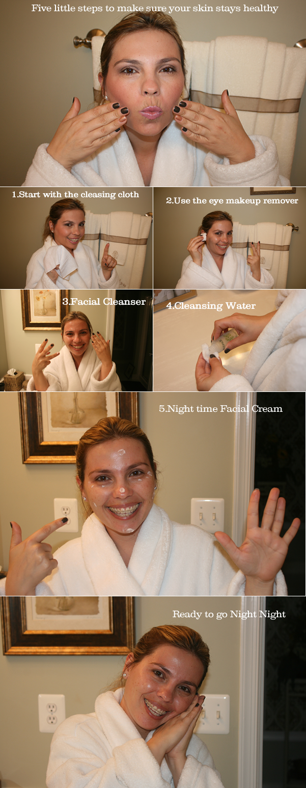 five steps for make up removal
