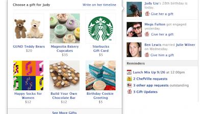 فيس بوك يتيح إمكانية إرسال الهدايا