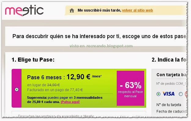 Estafa Meetic