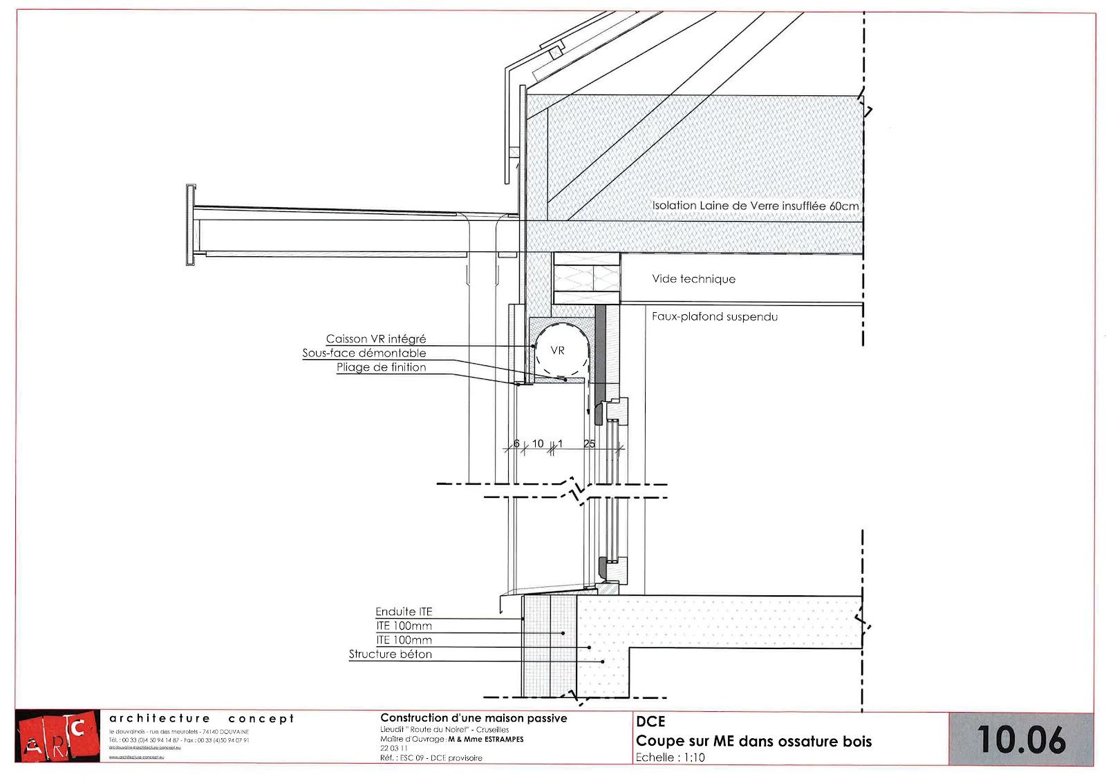 Construction d 39 une maison passive minergie p cruseilles for Fenetre plan