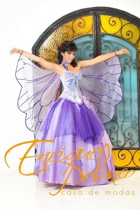 Vestido de XV años mariposa