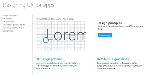 Microsoft's Metro UX website