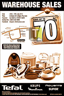 Tefal Warehouse Sale 2013