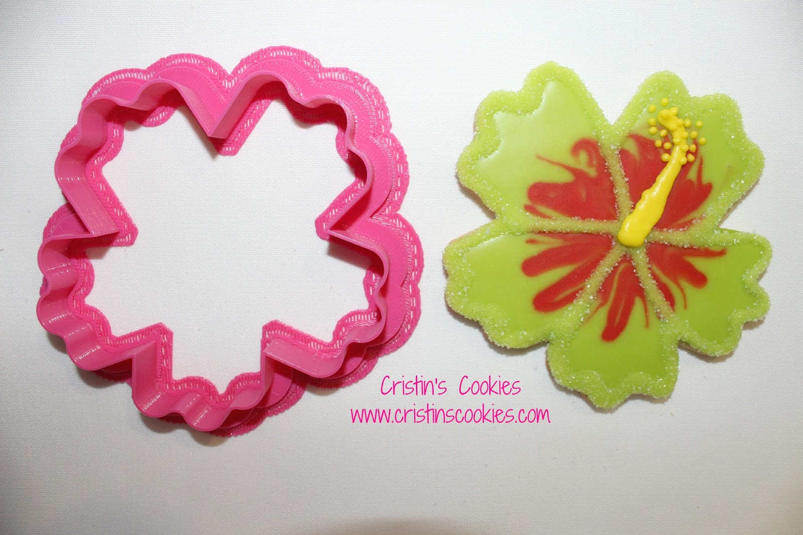 Cristins cookies hibiscus hula girls and free printable cookie i outlined the design and let that set for just a short bit izmirmasajfo