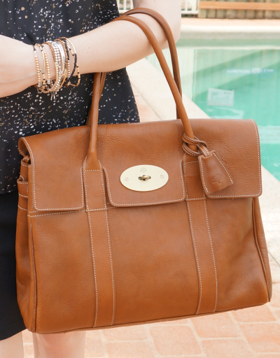 mulberry bayswater tote bag oak NVT leather