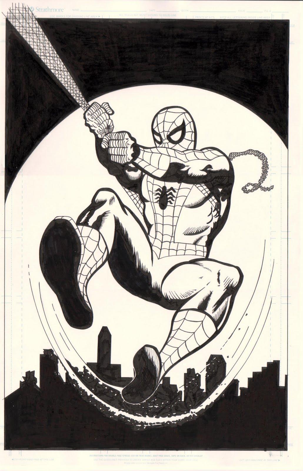 Nerdlingers geek emporium amazing spider man original art pinup
