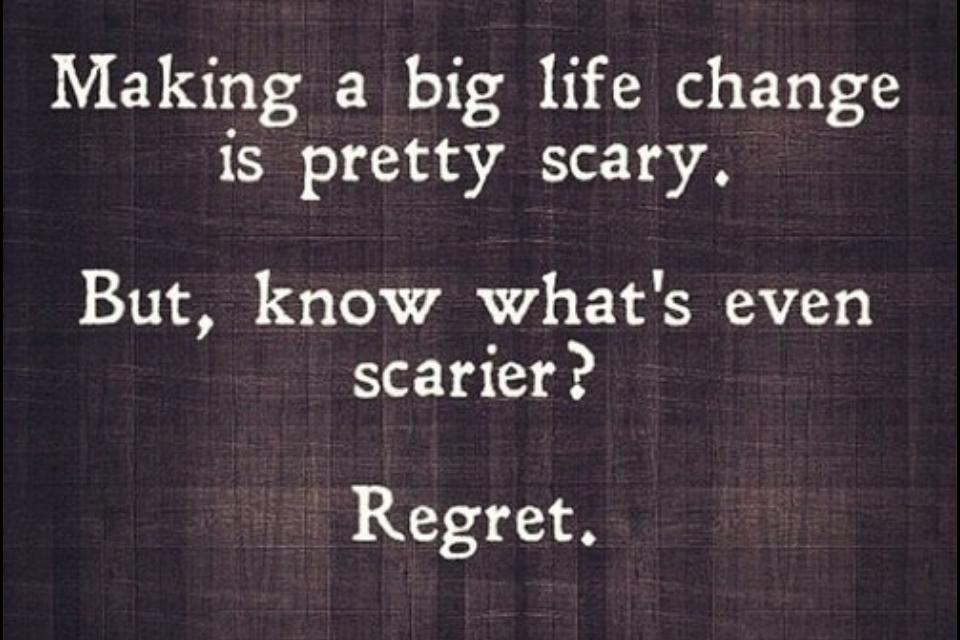 The reality of it is for What does regrets only mean