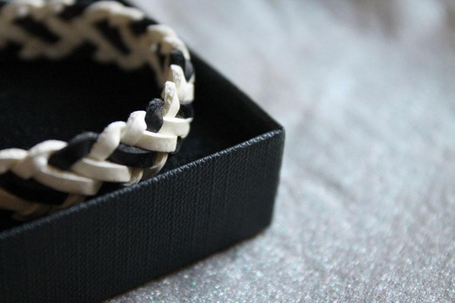 Black and white bracelet, new income, shopping, elegance, glamour, style, fashion