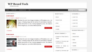 WP Boxed Tech Blogger Template
