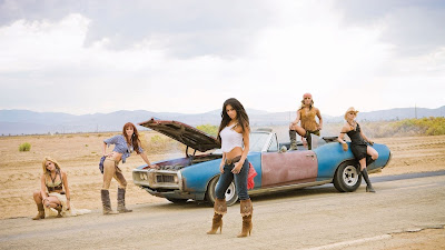 Pussycat Dolls Girls with an Old Broken Car HD Wallpaper