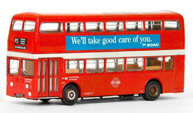 EFE 18110 - Park Royal XA Atlantean - London Transport Registration CUV 3C, fleet number XA 3, working route P3 to Peckham via Nunhead Lane and carrying advertisements for BOAC. RRP £32.50