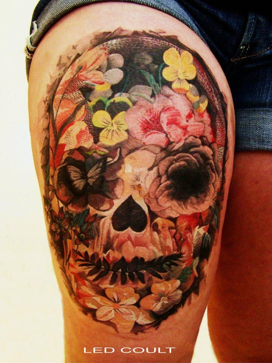 sugar skull female tattoofemale tattoos gallery. Black Bedroom Furniture Sets. Home Design Ideas
