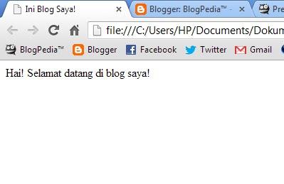 Membuka file HTML pada Browser