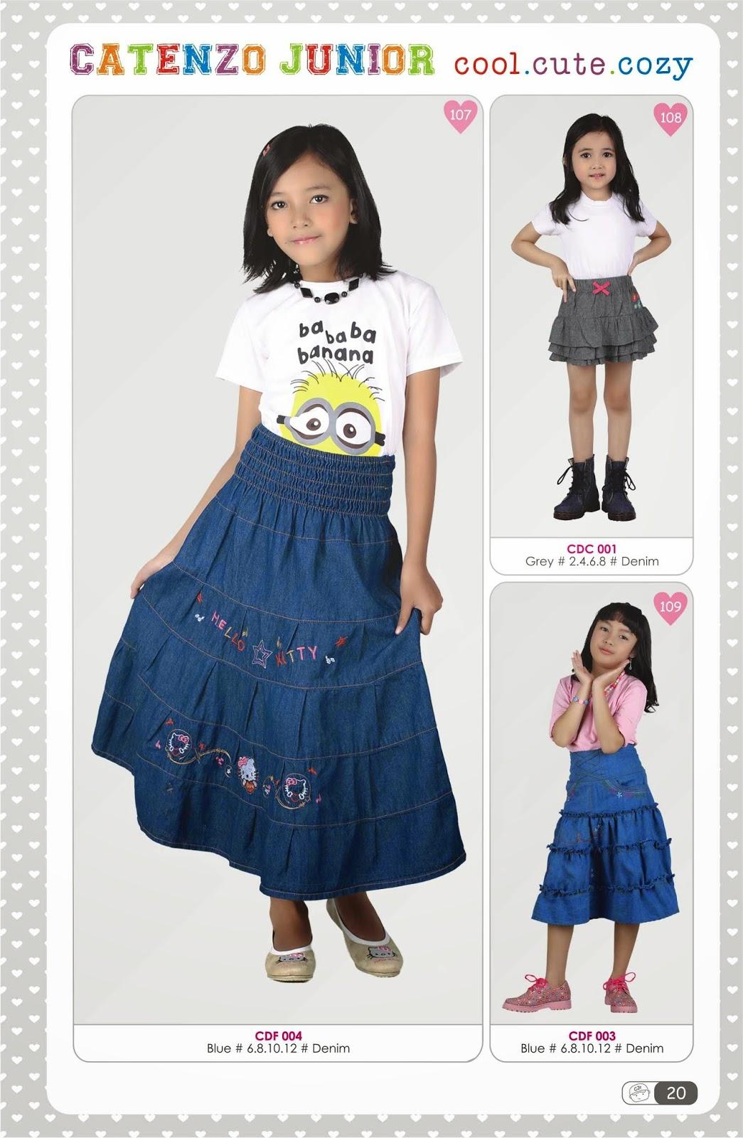 model rok anak wanita