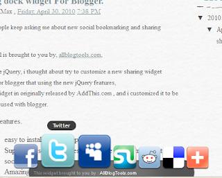 Sharing Dock Widget, Tombol Berbagi ala Windows
